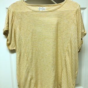 Maurice's Yellow Striped Top